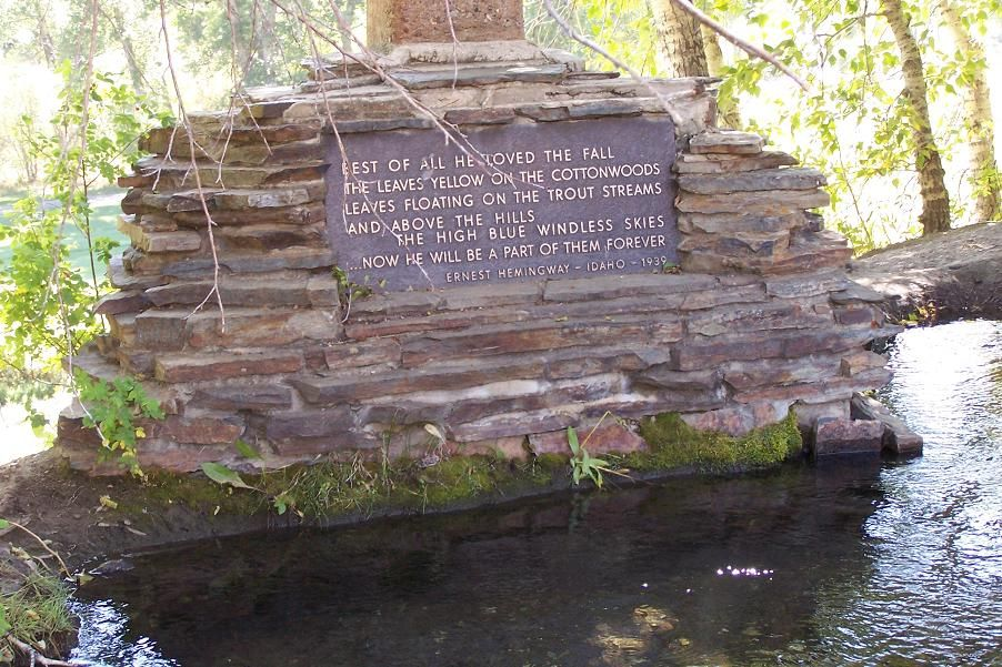 Hemingway memorial in Sun Valley