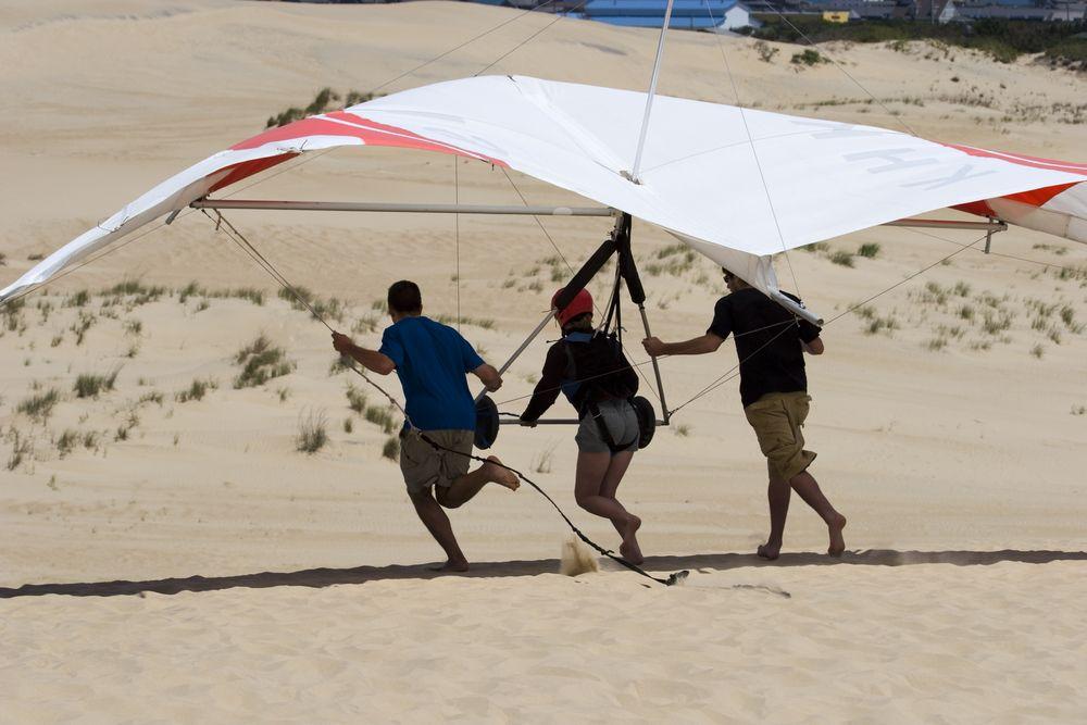 Hang glide in Jockey Ridge State Park
