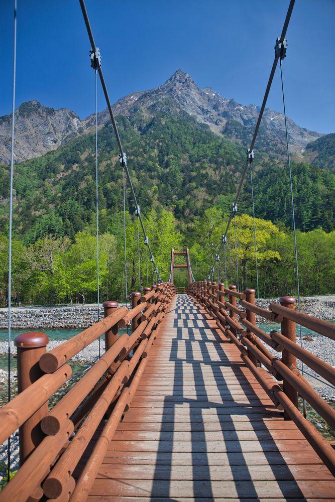 Wooden bridge at Kamikochi