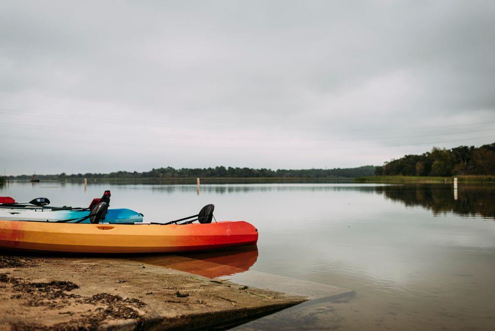 Kayaks in Lake Bastrop