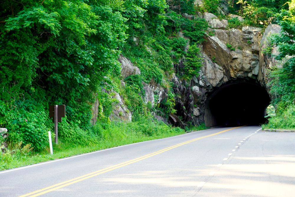 Tunnel in Mary's Rock Mountain
