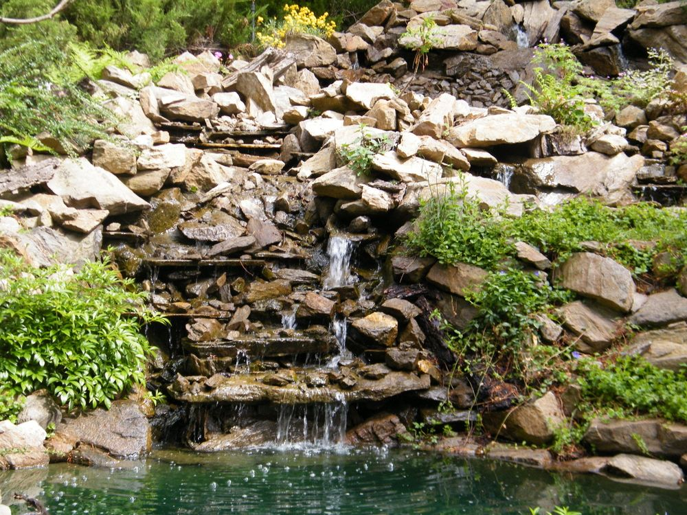 Waterfall in Ohme Gardens