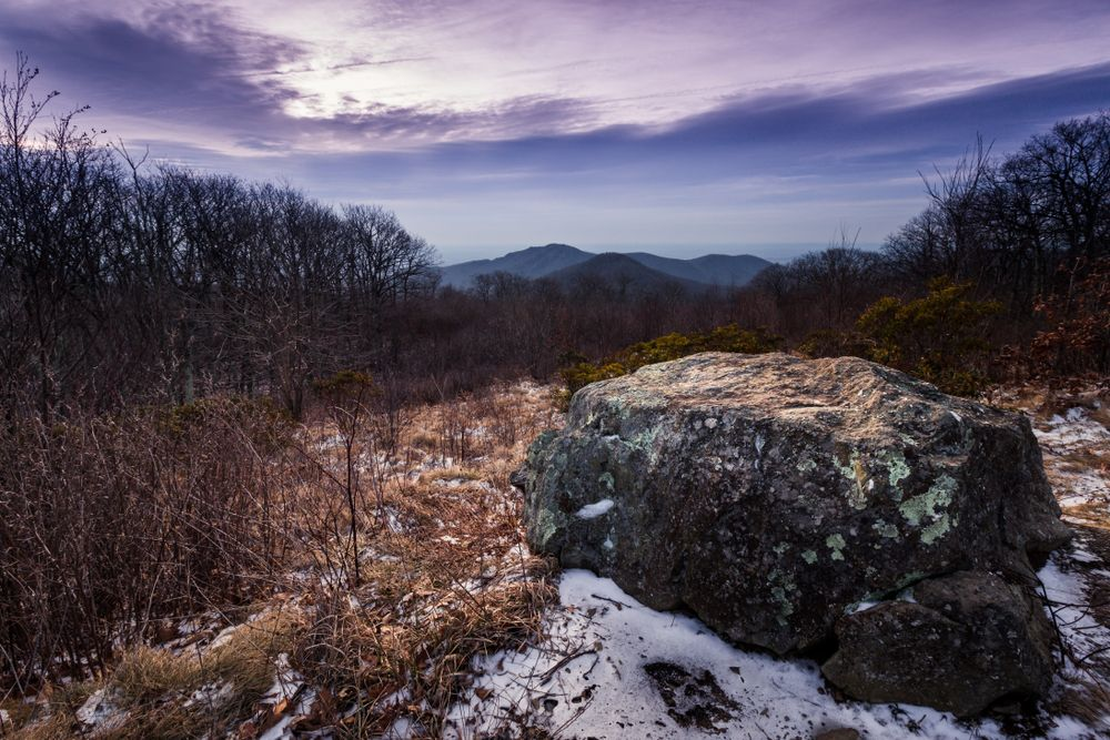 Winter in Old Rag Mountain