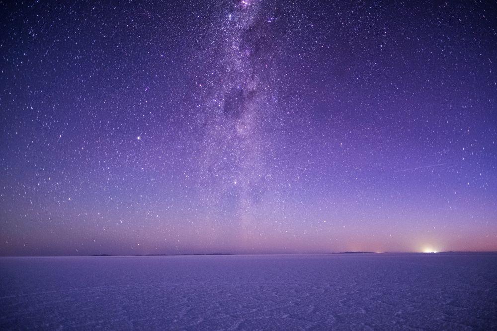 Salar De Uyuni at night