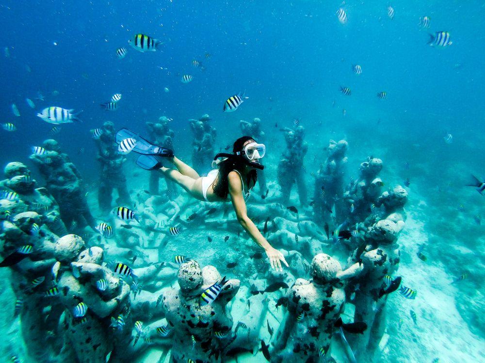 Snorkeling in Underwater Museum of Art