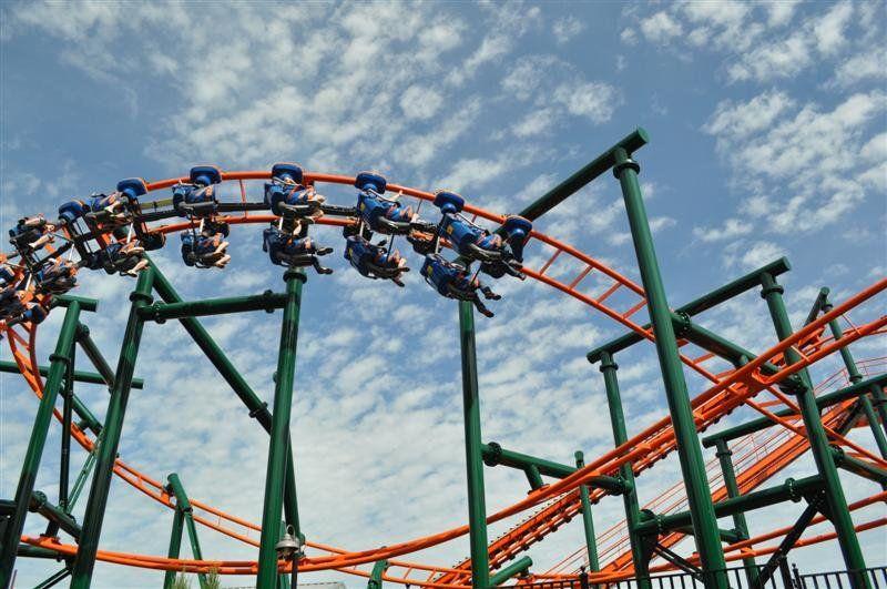 Roller coaster in Frontier City