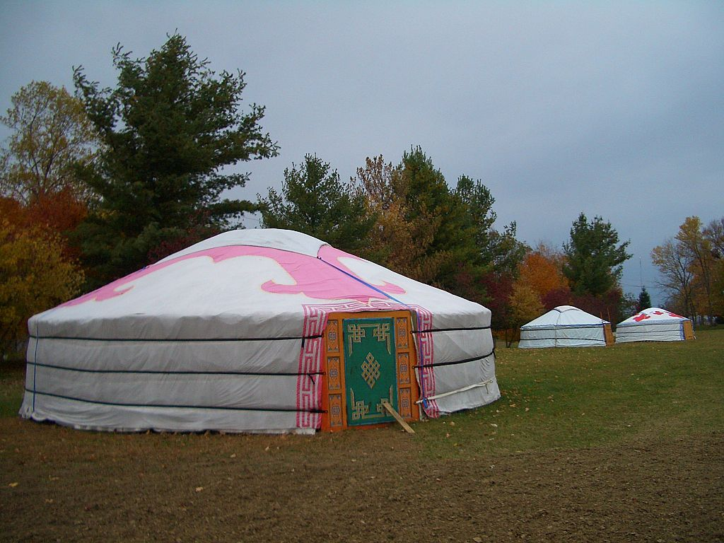 Mongolian yurt in Tibetan Mongolian Buddhist Cultural Center