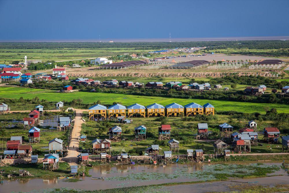 Aerial view of Tonlé Sap Lake