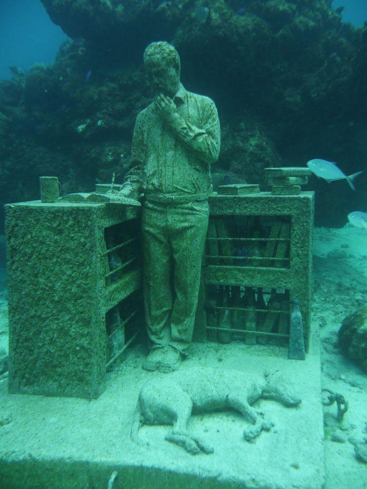 Statues in Underwater Museum of Art