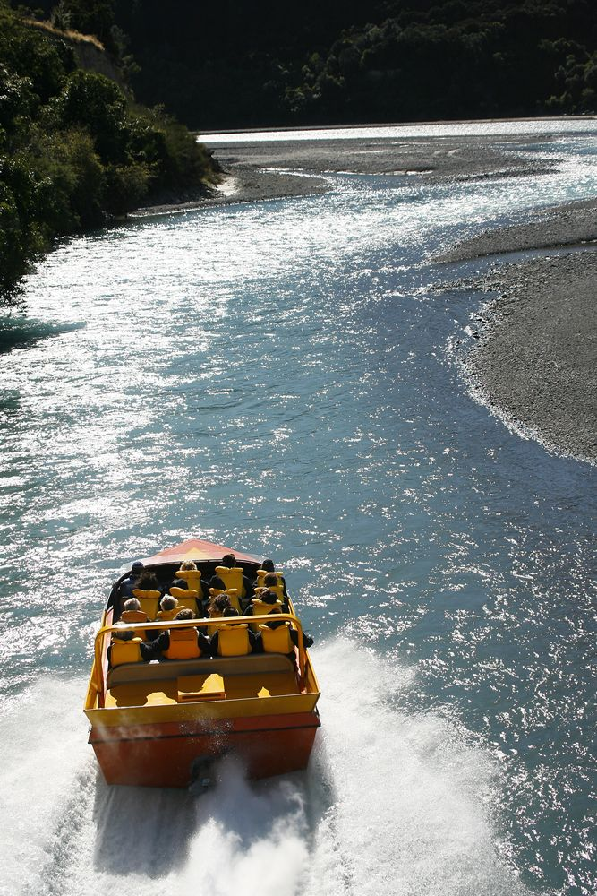 Jet Boat ride in Waimakariri River