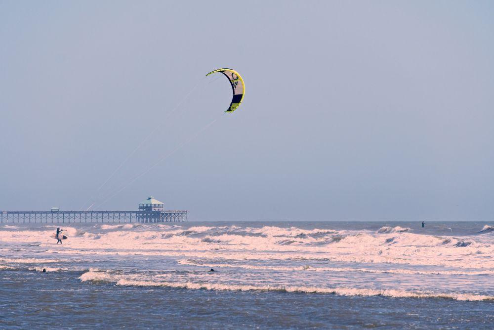 Paragliding in Folly Beach
