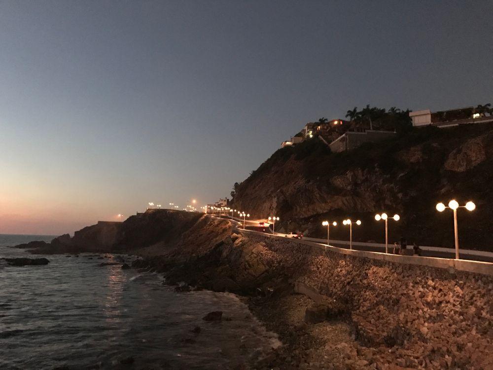 Night at Malecon, Mazatlan