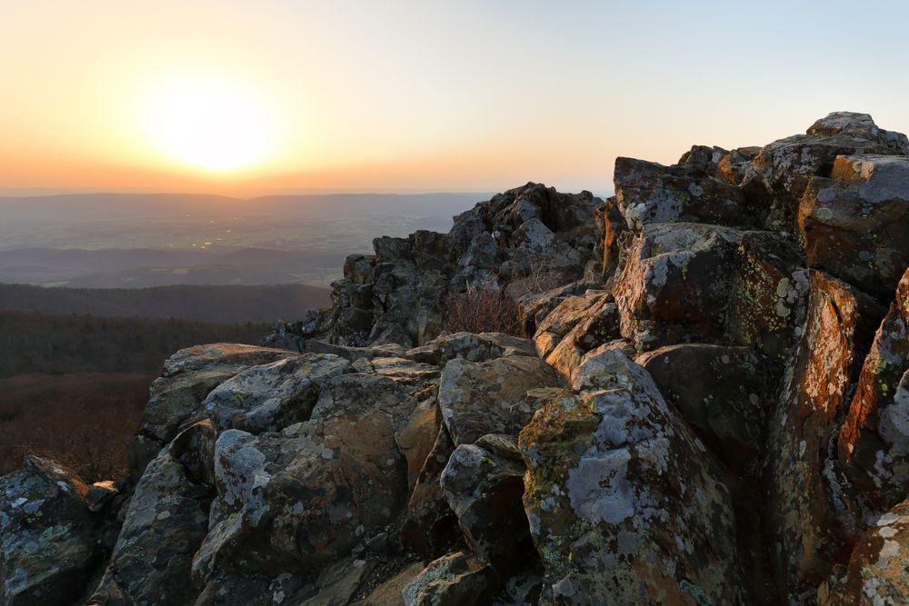 Sunset in sunset at Stony Man Summit, Virginia
