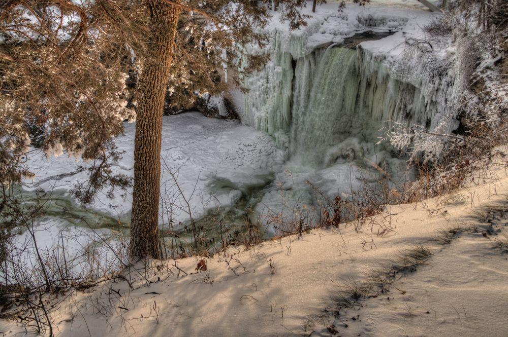 Minneopa State Park in Winter