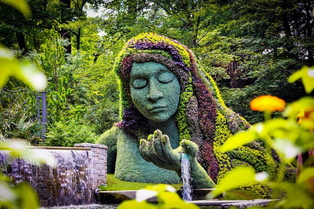 Earth Goddess in Atlanta Botanical Garden