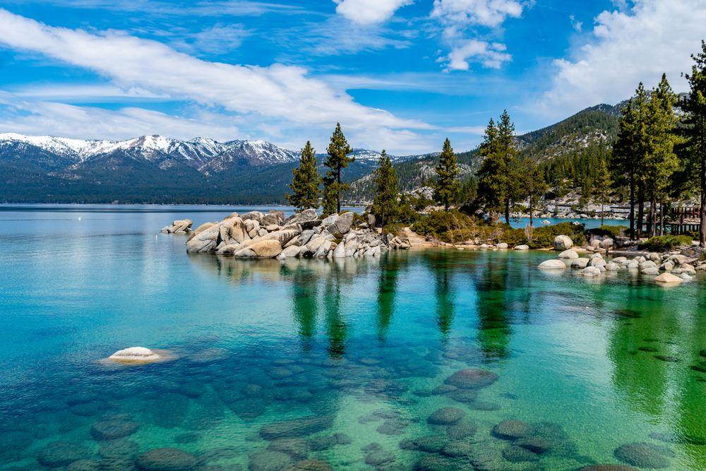 Crystal-like Lake in Lake Tahoe