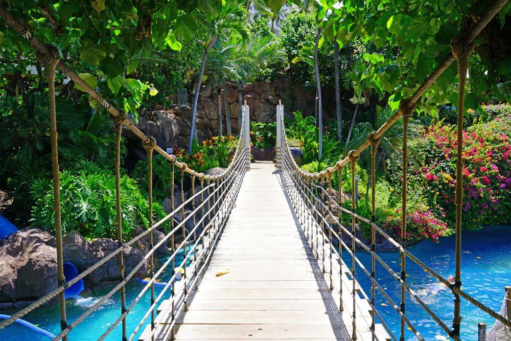 Wooden Bridge in Hyatt Residence Club Maui