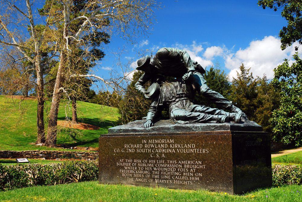 Richard Rowland Kirkland Monument in Fredericksburg/Spotsylvania National Military Park