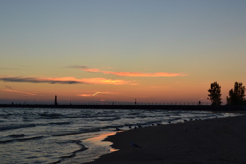 Sunset in Pere Marquette Park