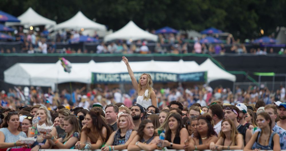 Crowd in Music Midtown