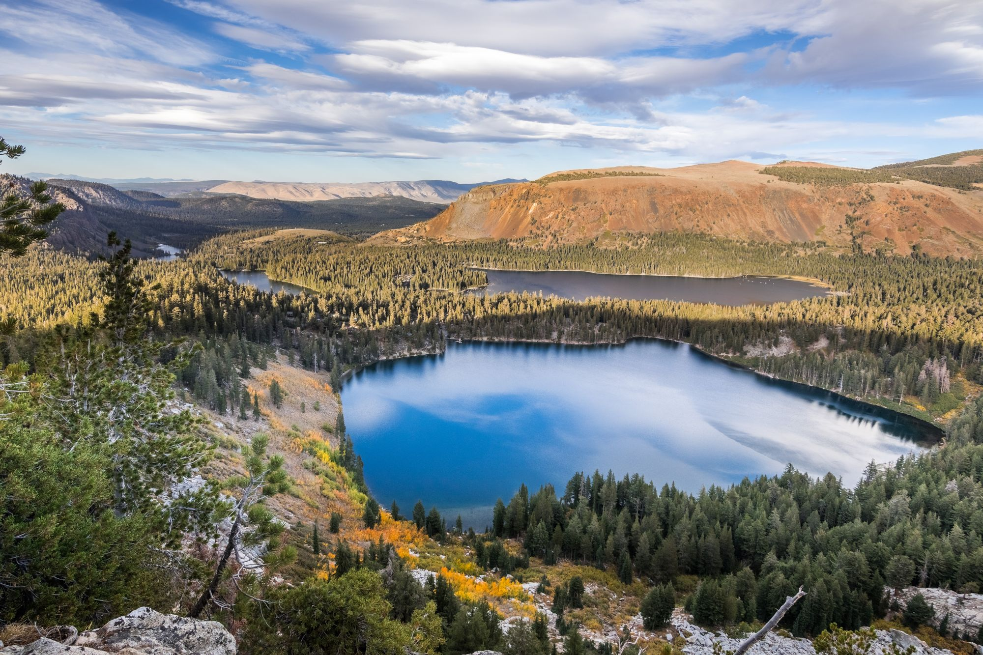 Aerial View of Mammoth Lakes basin
