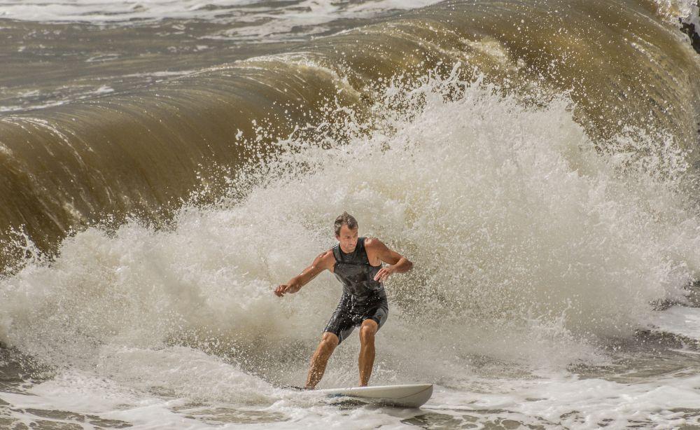 Surfing in Folly Beach