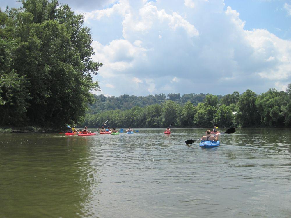 Kayaking at Muskingum River