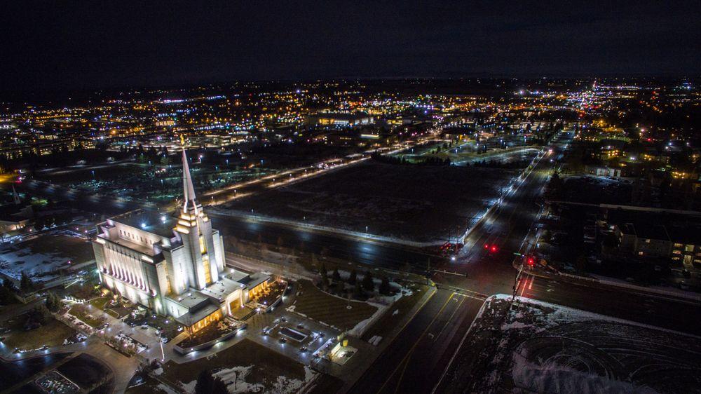 Aerial View of Rexburg Idaho Temple