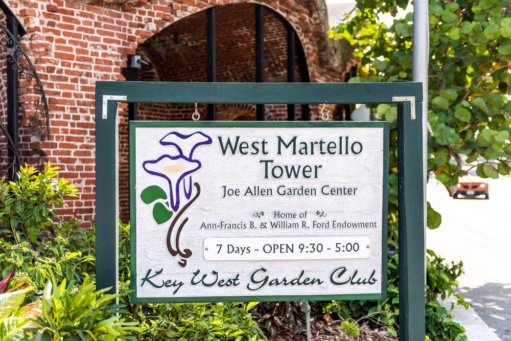A Signage of Key West Garden Club