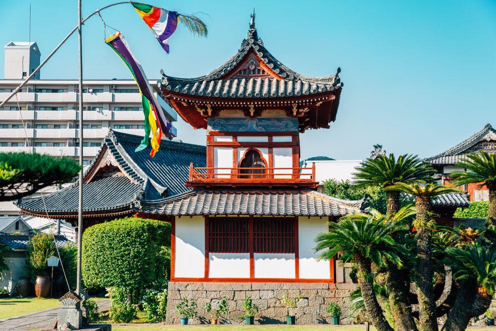 Kofukuji Temple architecture in Nagasaki