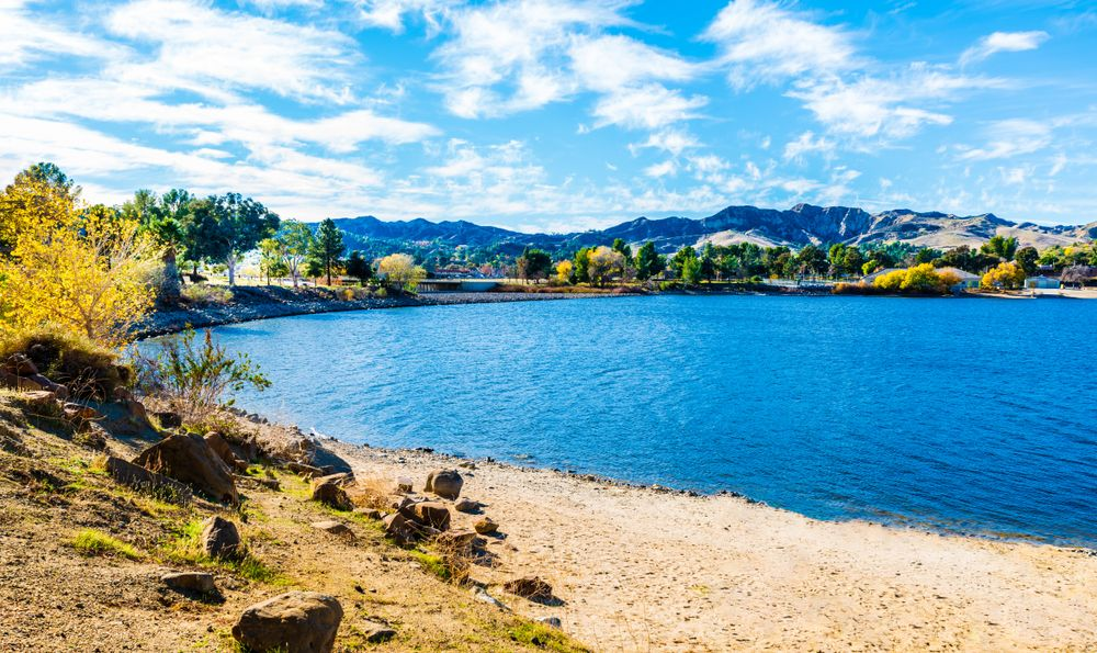 Scenic View at Castaic Lake, California