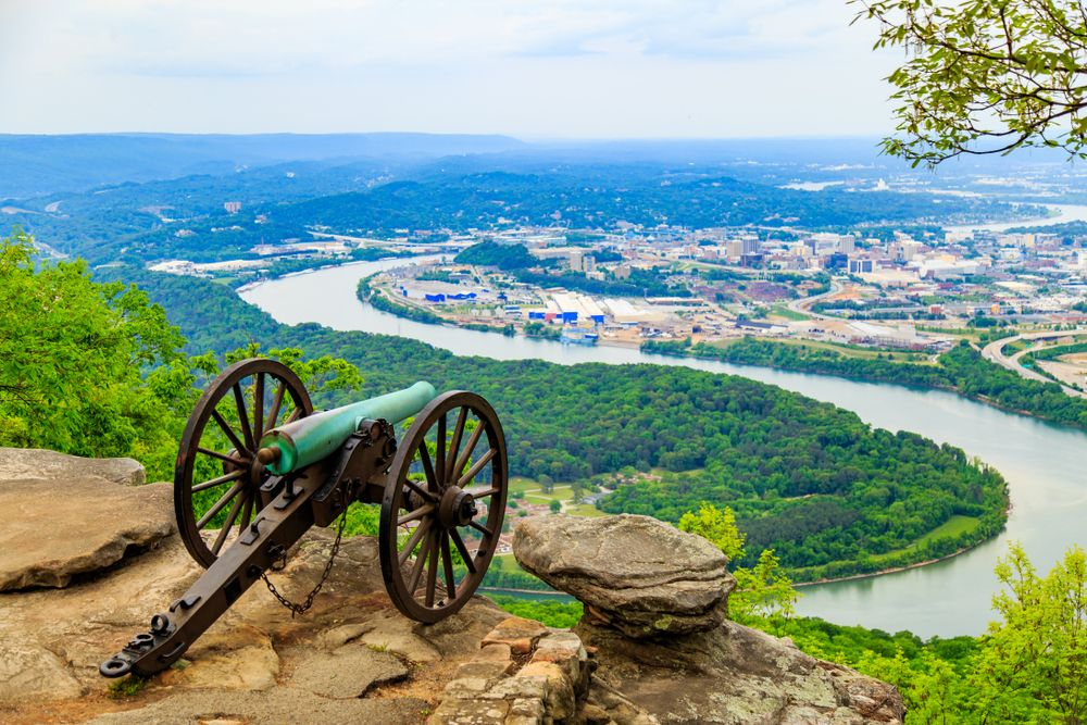 A cannon in Chickamauga National Military Park