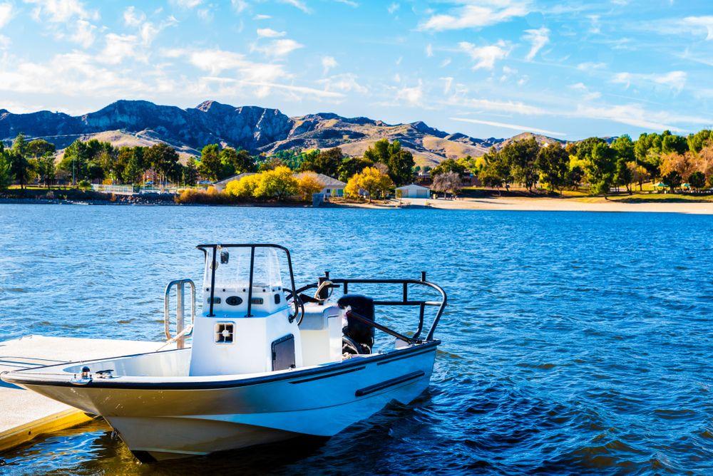 Boat at Castaic Lake