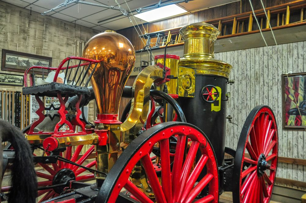 Old Fire Engine in Oklahoma State Firefighters museum