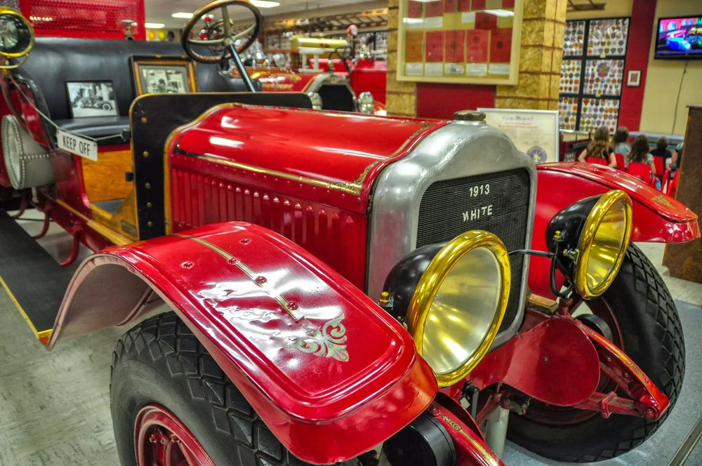 Fire Engine in the Oklahoma State Firefighters museum in Oklahoma City,