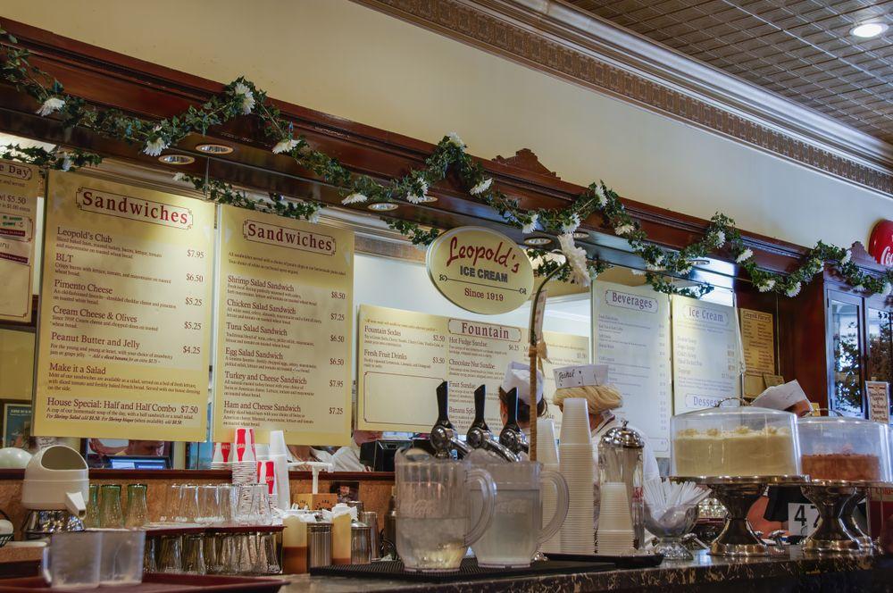 Inside Leopold's Ice Cream