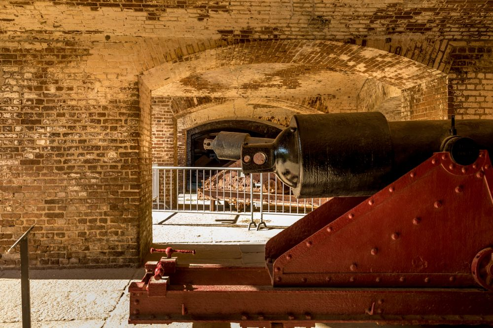 Cannon at Fort Sumter National Monument
