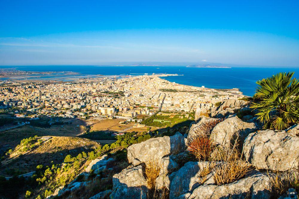 Aeria view of Sicily
