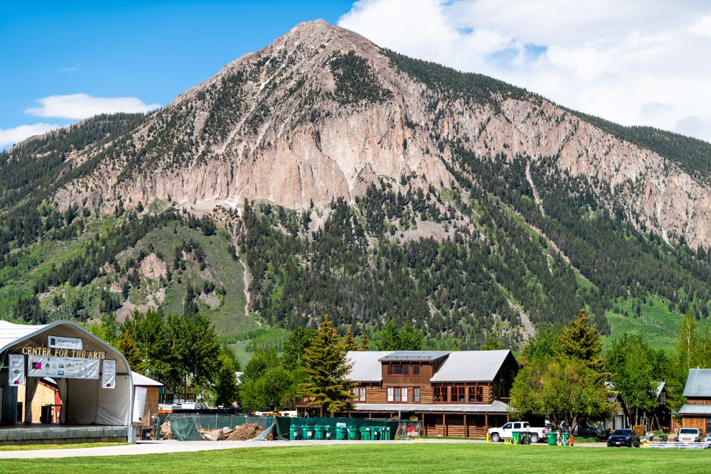 Scenic view of Center for the Arts in Crested Butte