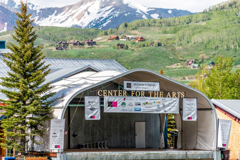 Closer view Scenic view of Center for the Arts in Crested Butte
