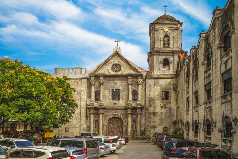 Outside View of San Agustin Church