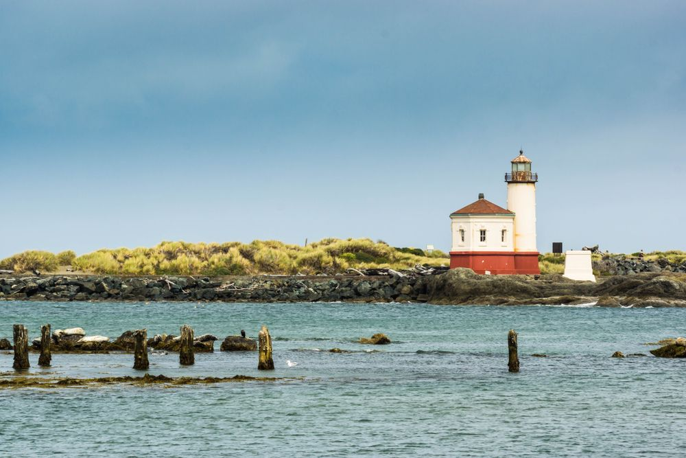 Coquille Lighthouse at the Bullards Beach State Park