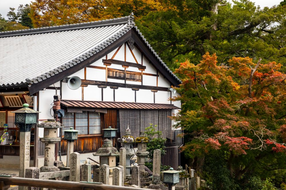 Nigatsudo temple in Nara Park