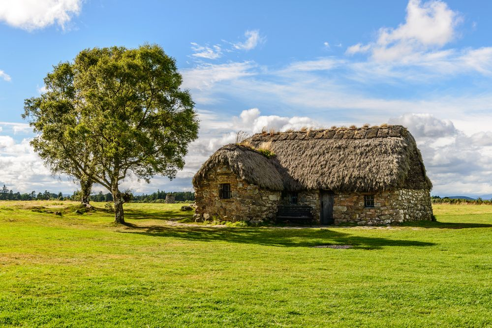 A Traditional House in the Culloden Battlefield