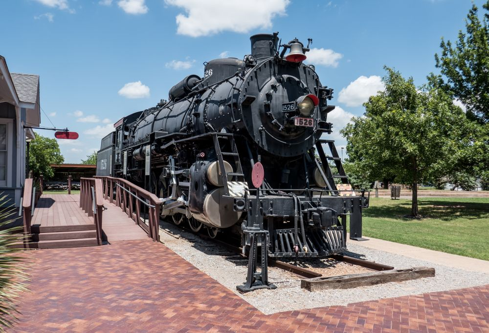 Baldwin locomotive #1526 at Museum of the Great Plains