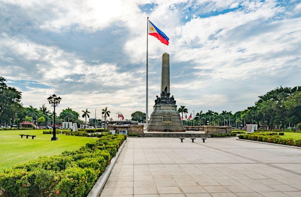 Rizal Park in Manila