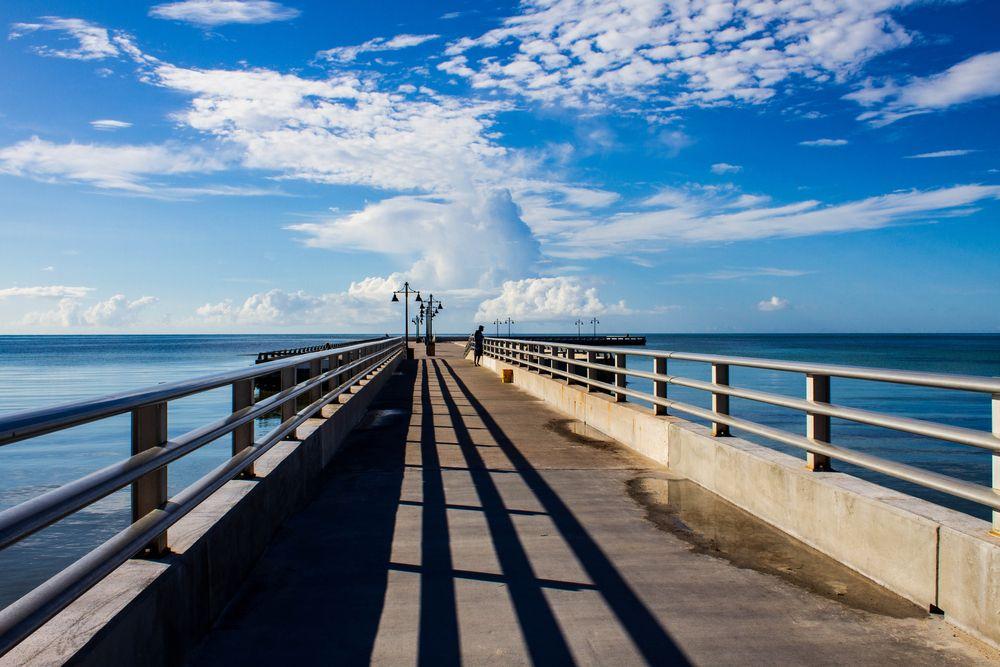 Pier in Higgs Beach in Key West