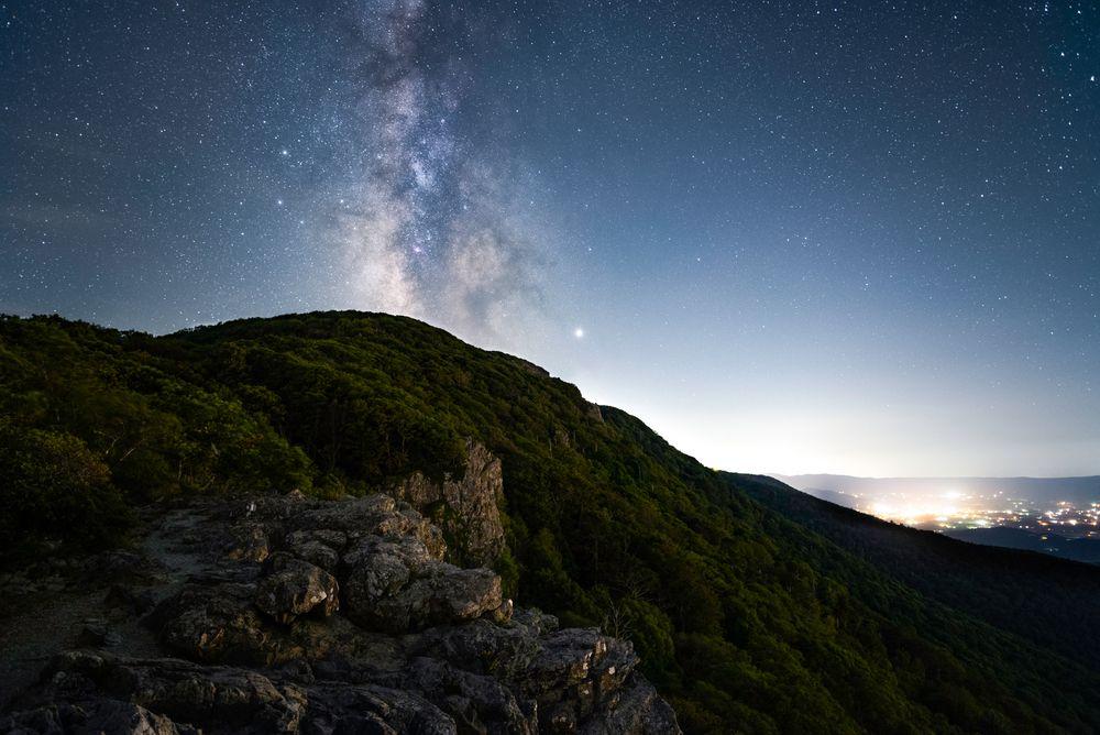 Milky Way over Stony Man Mountain in Virginia