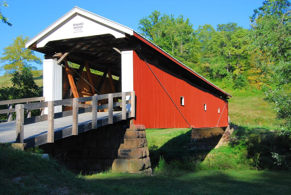 View of National Forest Covered Bridge Scenic Byway