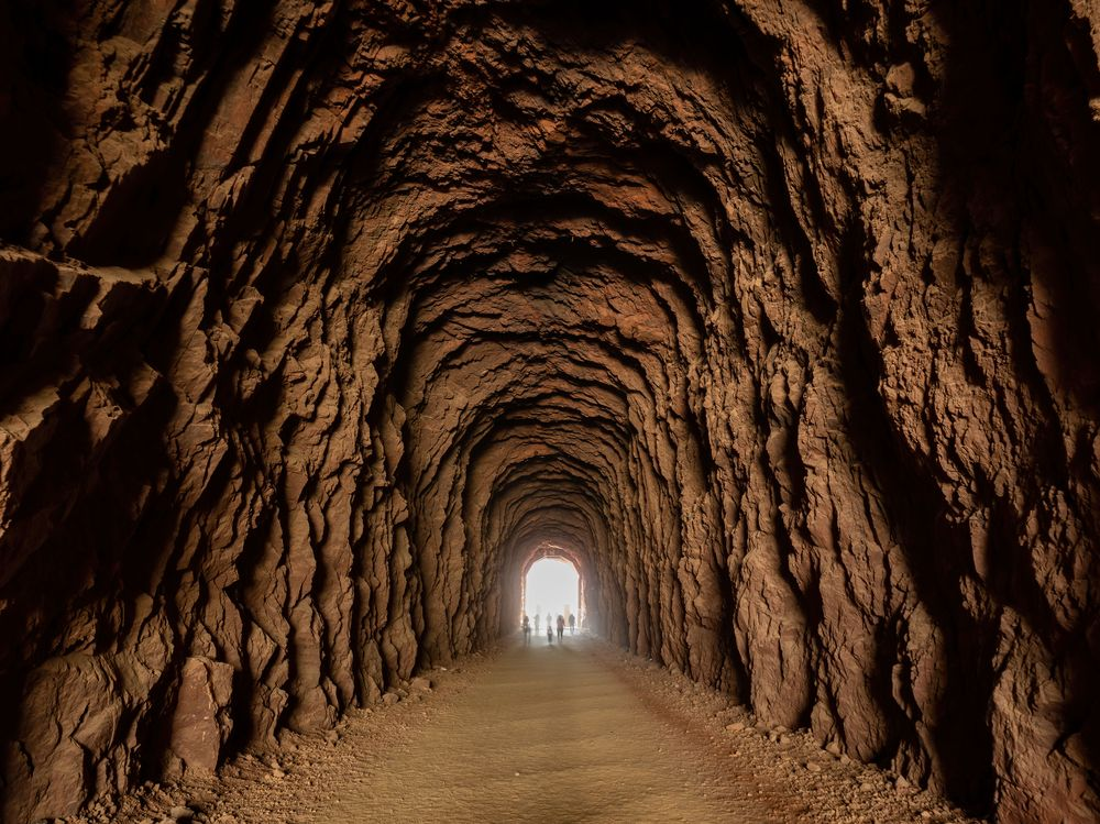 Inside View of Historic Railroad Hiking Trail